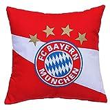 FC Bayern München Kuschelkissen / Kissen Diagonalstreifen FCB - plus gratis Aufkleber forever München