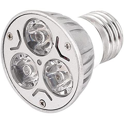 CA 85-265V 3W E27 3 LED de la lámpara del bulbo de luz blanca cálida luz de techo del punto