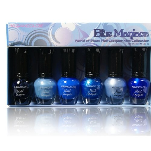 KLEANCOLOR Nail Lacquer Mini Collection - Blue Maniacs - World of Blue - KCNPC602