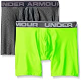 Under Armour Herren O Series 6'' BoxerJock 2er Pack,Mehrfarbig (Carbon Heather/Hyper Green), SM