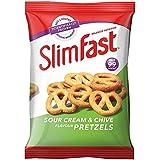 Snack-SlimFast bolsa de crema agria y cebollino Pretzels 23g