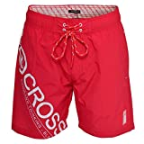 Crosshatch Pacific Mens Swim Shorts - High Red - Small