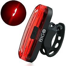 Luz Trasera para Bicicleta Recargable USB, Super Brillante Rojo Luz LED Bici de 120 Lúmenes