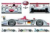 Audi R8 Le Mans 2001 Blechschild Auto car übersicht overview oldtimer