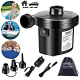 Firstwish Electric Air Pump DC 12V/240V UK Plug with Car Adaper and 3