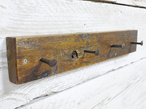 48cm industriale legno & Nails montato cappello appendiabiti in metallo, colore ganci da parete