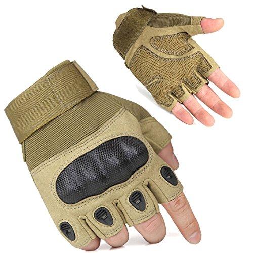 freemaster Herren Handschuhe Tactical Radfahren Handschuhe-Fingerlose Halbfinger Militär Airsoft Jagd Reiten (Boot-handschuhe)
