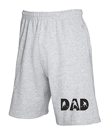 T-Shirtshock - Pantalone Tuta Corto OLDENG00108 hockey dad white, Taglia XL