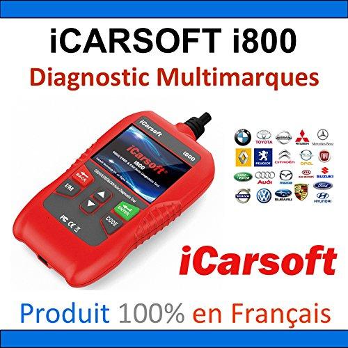 Valise Diagnostic iCarsoft i800 by Mister Diagnostic - MULTIMARQUES - AUTOCOM DELPHI CAN CLIP DIAGBOX