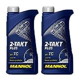 MANNOL 2 x 1 Liter 2-Takt Plus API TC JASO FD Motorradöl