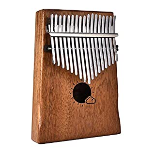 ASOSMOS Professional 17 Keys Kalimba Mbira Likembe Solid Mahogany Wood Thumb Piano Finger Percussion Gifts