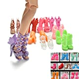 10pairs Colorful Assorted Fashion Doll S...