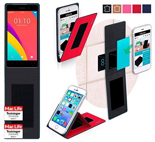 reboon Hülle für Oppo R5s Tasche Cover Case Bumper | Rot | Testsieger
