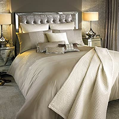 Kylie Minogue ALBA Duvet Quilt Cover Bedding Bed Linen Praline and oyster satins - cheap UK light store.