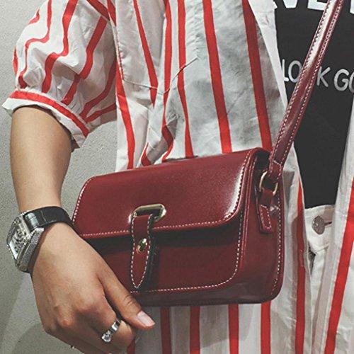 BZLine® Frauen PU-Leder Handtasche Schulranzen Umhängetasche , 20*13*7cm Weinrot