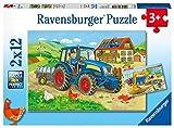 Ravensburger Kinderpuzzle 07616 Baustelle und Bauernhof