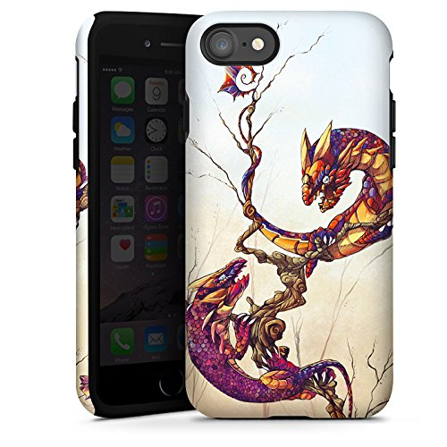 Apple iPhone X Silikon Hülle Case Schutzhülle Drachen Fabelwesen Traumwelt Tough Case glänzend