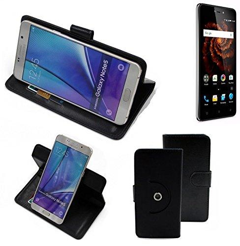 K-S-Trade® Hülle Schutzhülle Case Für -Allview X3 Soul Lite- Handyhülle Flipcase Smartphone Cover Handy Schutz Tasche Bookstyle Walletcase Schwarz (1x)