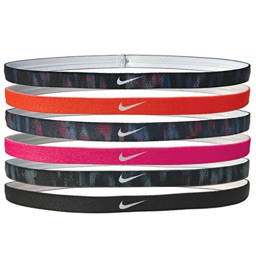 Nike mit Haarreifen mit 6pk, Mädchen, Black/Hyper Crimson/Binary Blue/Racer Pink