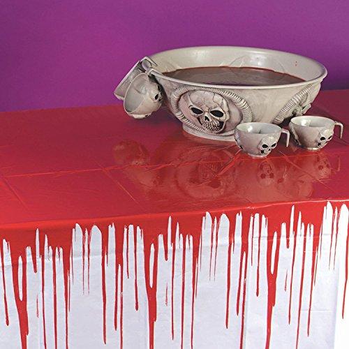 Blutige Tischdecke für Halloween DRIPS OF BLOOD 274 x 137 (Tischdecke Halloween)