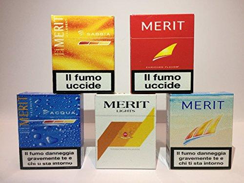 5 Calamite Frigo In Miniatura -Sigarette Merit LIMITED EDITION -