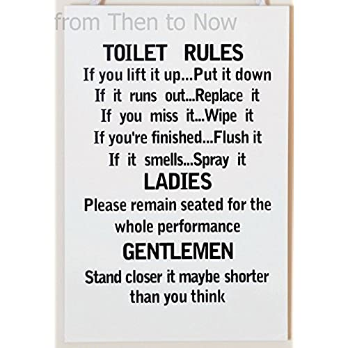 funny bathroom signs. Leonardo Unique Toilet Rules Novelty Hanging Bathroom White Plaque,Funny Wooden Sign For Wall Or Door Funny Signs O