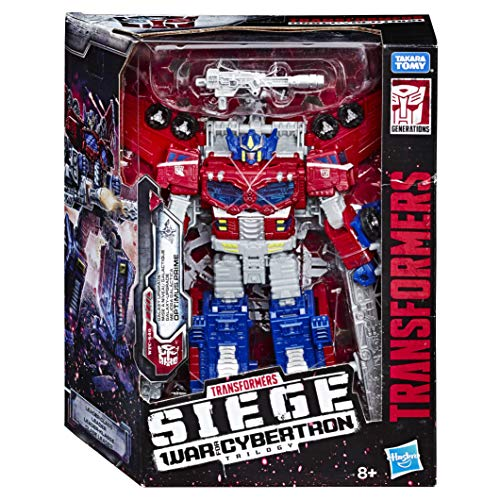 Transformers Toys Generations War for Cybertron Leader WFC-S40 Galaxy Upgrade Optimus Prime Action Figure - Siege Chapter - Adults and Kids Ages 8 and Up, 7 Inch