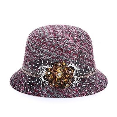 Retro-Farbstoff Farbe im Herbst und Winter Plaid wool Mode Hüte Hut Hüte für Frauen im Sun/Prom
