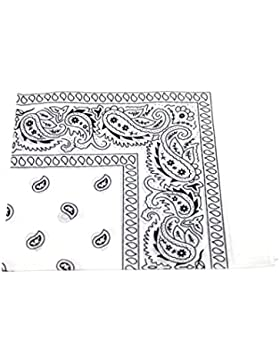 Bandana / Pañuelo para cabeza, diseño estampado, Blanco