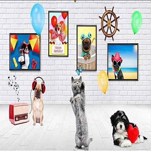 m Beautiful Animal Königreich Hund 3D Wallpaper Pet House Dekorativen Hintergrund Benutzerdefinierte Wandbilder-300cmx210cm ()
