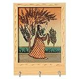 Handicraft Paradise Real Gemstone Pine Wood Ragini Plucking Flower Design 3 H...