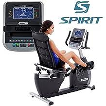 Spirit Fitness Bike XBR 95 - bicicleta estática reclinada, ergómetro, 12 programas, 13,5kg volante, 7,5`` LCD