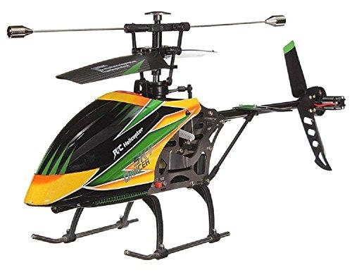 LENRUE Grande V912 4CH Sola Blade RC Control Remoto Helicóptero con El Girocompás RTF (Amarillo)
