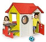 Ideal Smoby Mein Haus Spielhaus 154x135x120 cm mit Picknicktisch und Einem Softball