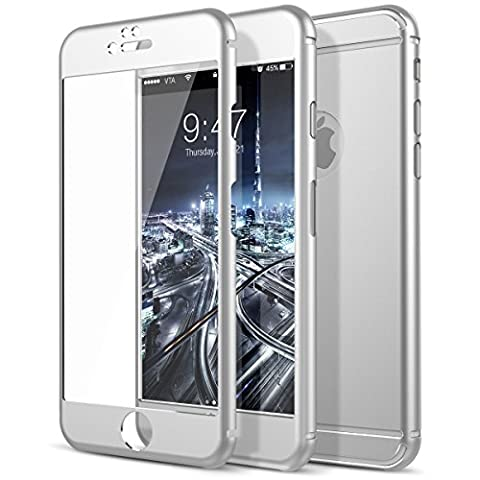 iPhone 6 Screen Protector, Étui Coque de Protection iPhone 6S, CE-Link Avant et Arriere Métal Protecteur D