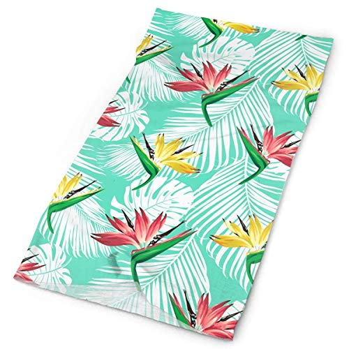But why miss Tropical Flowers and Palm Leaves Outdoors & Daily Headwear,Bandana,Headband,Neck Gaiter,Balaclava,Helmet Liner for Running Riding Skiing Hiking -