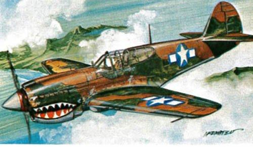 Revell Micro Flügel p-40e Warhawk Flugzeug Plastic Model Kit Model Kit Flugzeug