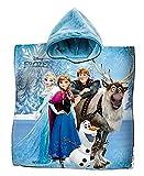 Peignoir poncho serviette coton Reine des neiges Elsa Anna Olaf mer Petites filles
