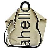 Produp Damenmode Tasche Breite Schulter Schulter geschlungen Brief Leinwand Umhängetasche Umhängetasche Handtasche Reisetasche