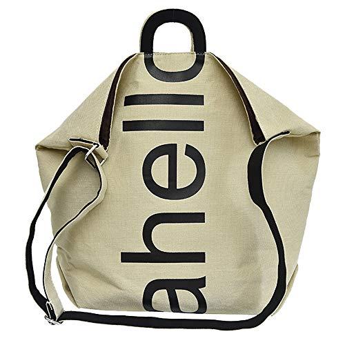 Hffan Damen Mädchen Student Große Kapazität Brief Drucken Canvas Tasche Modisch Handtaschen Umhängetasche Damenhandtaschen Schultertaschen Handtaschen Rucksäcke(Variation) -