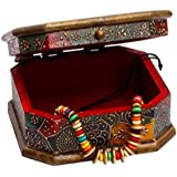 Rajasthani Home Decor Handicrafts | Home Decor Gifts | Home Decorative Items In Living Room, Bedroom | Rajasthani Wooden Jewellry Cosmastic Handicraft Box-2