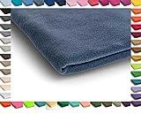 Polar Antipilling Fleece Stoffe 200 g / m² von allerbester Qualität erhältlich in 50 Farben 50 x 155 cm (Nr 16 Jeans)