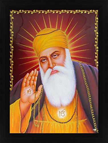 Avercart Guru Nanak Dev Ji / Gurunanak Sikh Religious Poster 12x16 inch with Photo Frame (30x40 cm framed)