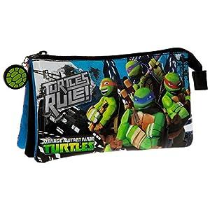 Tortugas Ninja Turtles Building Neceser de Viaje, 1.32 litros, Color Azul