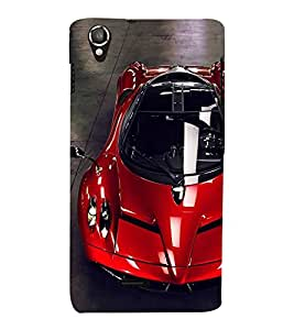 PrintVisa Fast And Furious Red Car 3D Hard Polycarbonate Designer Back Case Cover for Lava Iris X8