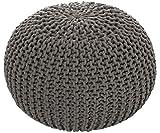 ANTARRIS Sitzhocker Sitzpuff Bodenkissen Ø 50 cm, 55 cm oder 80 cm ver. Farben Baumwolle (Ø 55 cm, dunkelgrau)