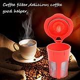 Generic 1 Pack Orange Refillable K-Carafe Reusable Coffee Filter Replacement For Keurig