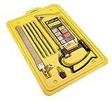 Mini-Handsäge, Massivrahmen-Hochspannungs-Bügelsäge, Werkzeugkasten mit Multi-Blades-Set, Funktion als Bügelsäge, die Bogen-Jab-Rip-Beschneidungsketten-Handsägen bewältigt
