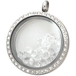 "Andante Geburtssteine ""Kristalle"" APRIL (Diamant) FLOATING CHARMS Schwebende Medaillons"