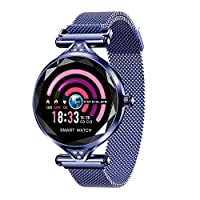 H1 Intelligent Women Fashion Watch IP67 Waterproof Heart Rate Blood Pressure Sleeping Quality Monitor Watch Fitness Sports Color Display Screen Tracker
